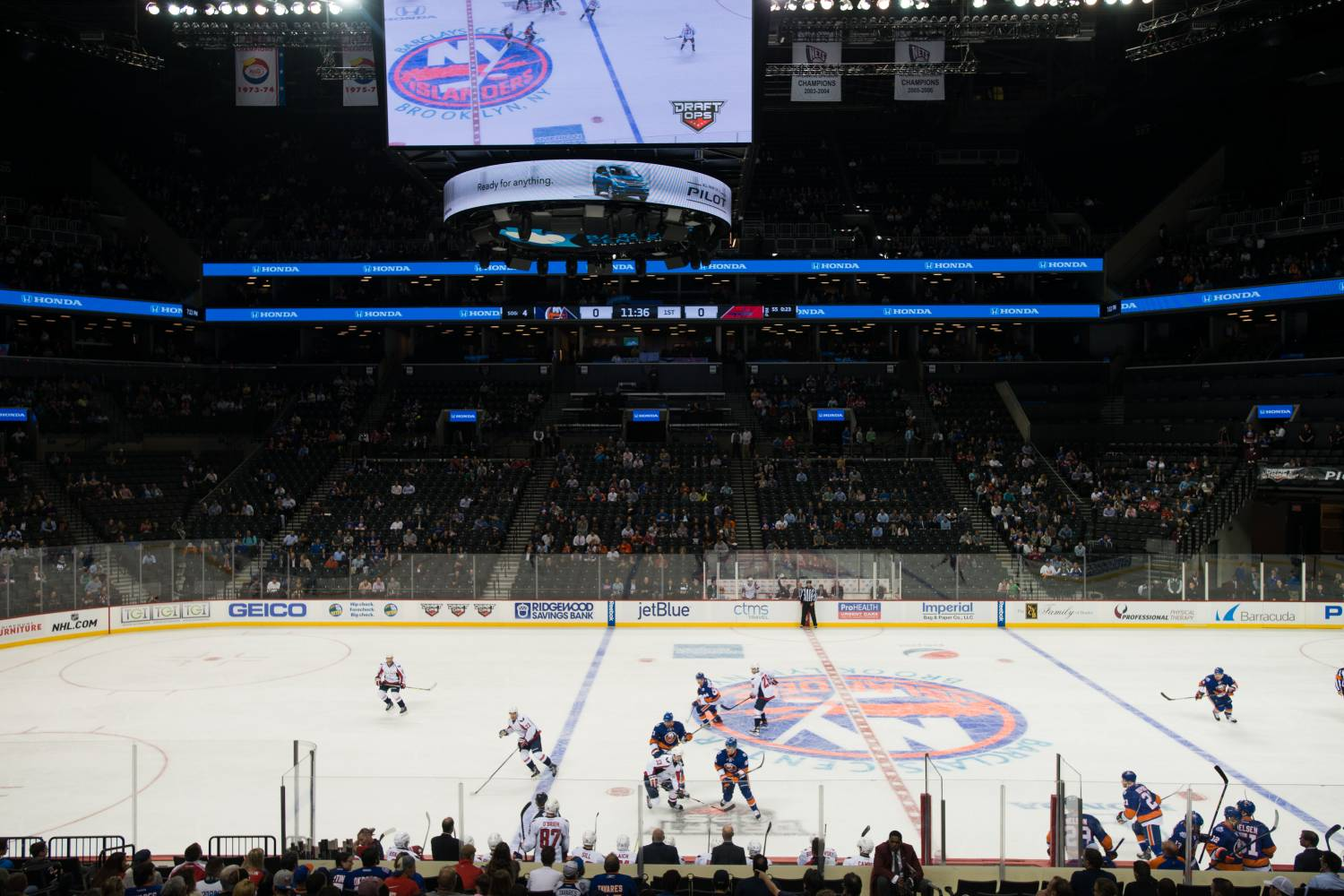 New York Islanders spielen bei der Barclays Center